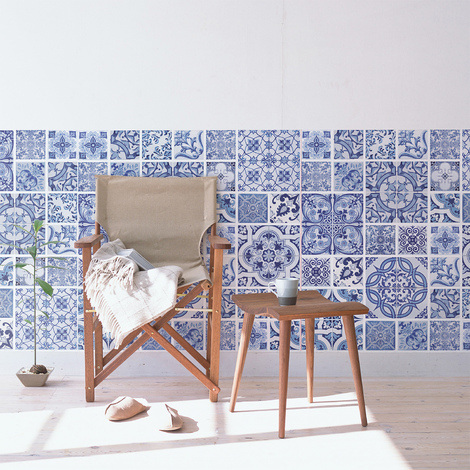 Ocean Blue tiles - pack of 8 pcs.