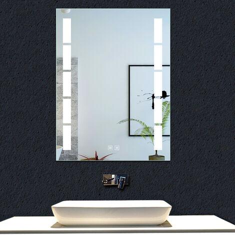 OCEAN Miroir de salle de bain anti-buée modèle Bambou