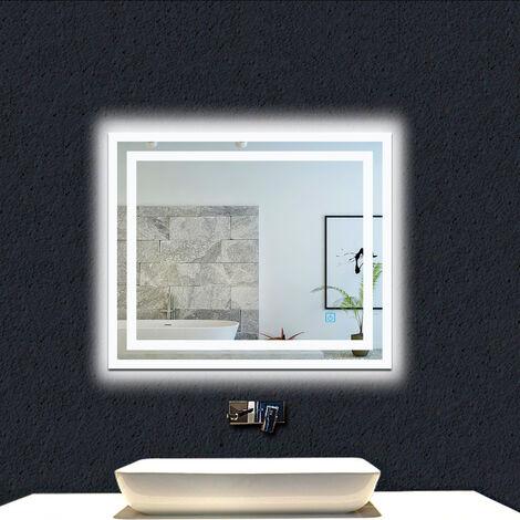 OCEAN Miroir de salle de bain anti-buée modèle Carré 3.0