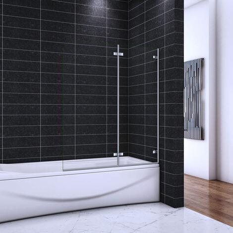 OCEAN Pare-baignoire 100/110/120x140cm écran de baignoire
