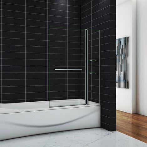 OCEAN Pare-baignoire 100x140cm écran de baignoire 6mm verre de sécurité