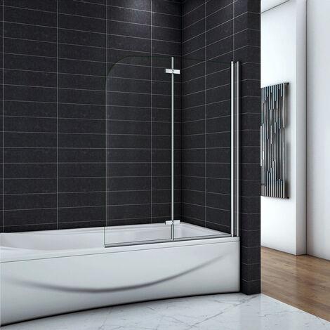 OCEAN Pare-baignoire 90/100/110/120x140cm écran de baignoire 6mm verre anticalcaire