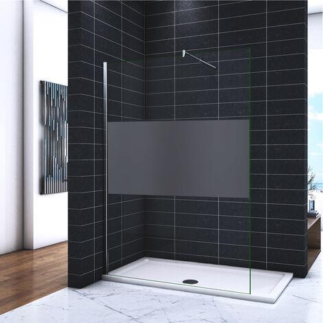 Pare douche paroi fixe Reversible verre transparent 60 x 200 cm anticalcaire Huppe