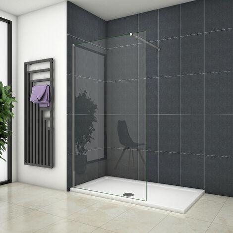 OCEAN Paroi de douche à l'italienne en verre anti-calcaire avec les plusieurs largeur à choix