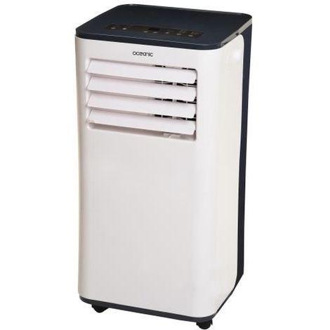 OCEANIC Climatiseur monobloc mobile 2600 watts - 9000 Btu - Programmable 24h - Classe énergétique A