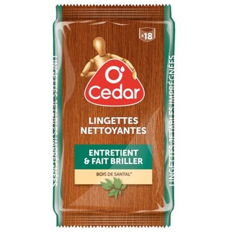 O'CEDAR - Lingette dépoussiérante - bois de santal - x18