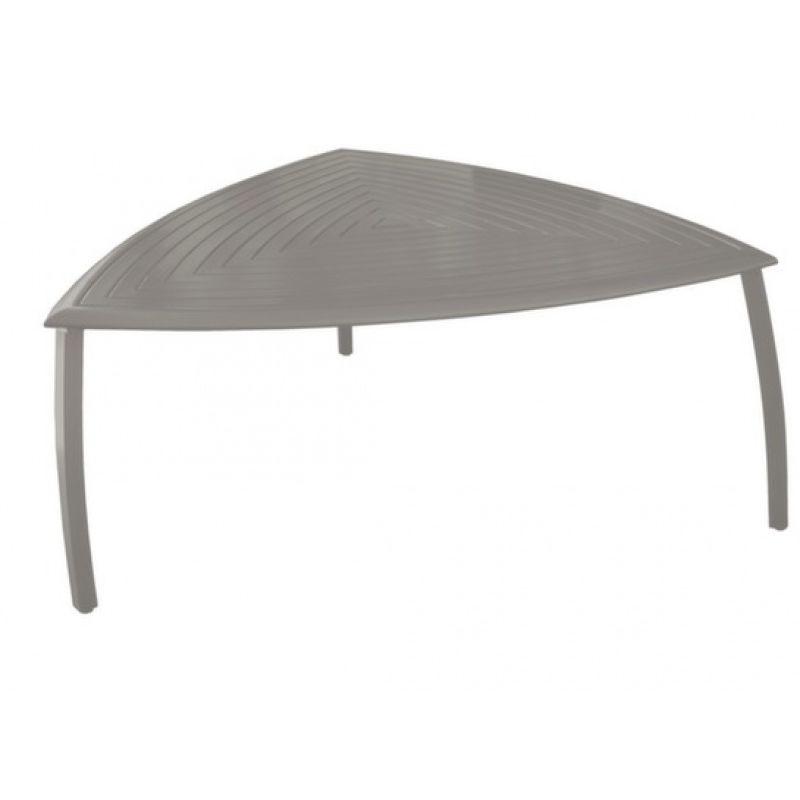 Océo Table triangle Azur aluminium Taupe