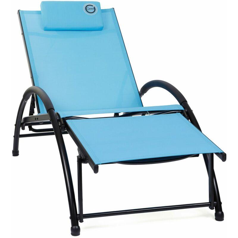 Fauteuil Relax Bleu - Structure Pliable et Confortable