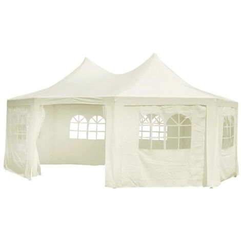 Octagonal Party Tent White 6 x 4.4 x 3.5 m