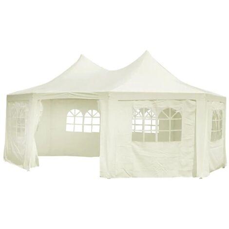 Octagonal Party Tent White 6 x 4.4 x 3.5 m - Cream