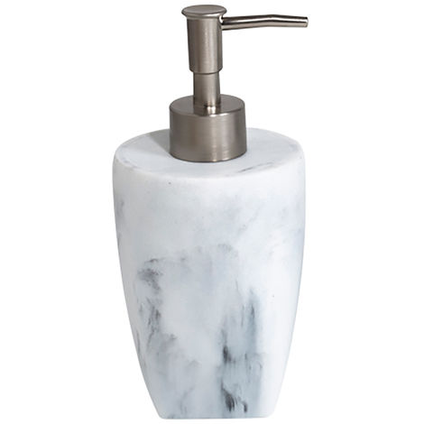 Octavia Freestanding Liquid Soap Dispenser, White Marble