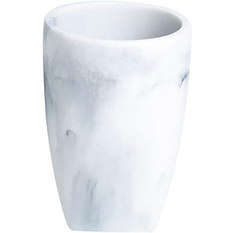 Octavia Freestanding Tumber, White Marble