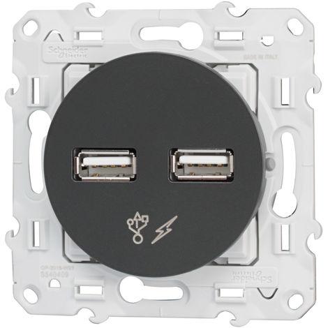 "main image of ""ODACE DBLE USB 5V ANTHR"""