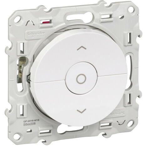 Odace, interrupteur volet-roulant Blanc 3 boutons montée/descente/stop à griffes (S525208)