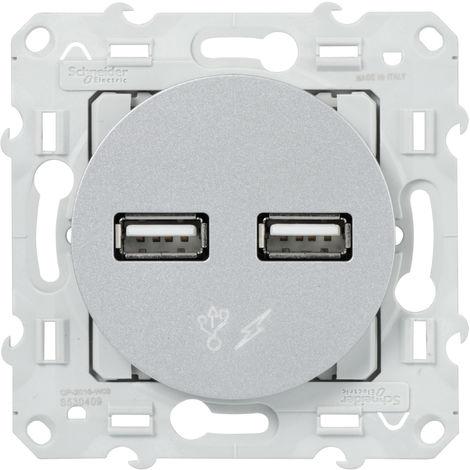 ODACE PRISE DBL USB 5V ALU-221070860