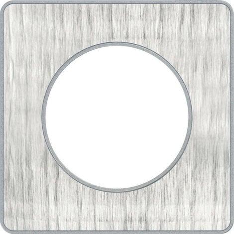 Odace Touch, plaque Aluminium brossé croco avec liseré Alu 1 poste (S530802J1)