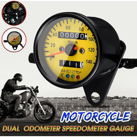 Odómetro de motocicleta dual KHM Velocímetro Medidor de retroiluminación LED Luz de señal