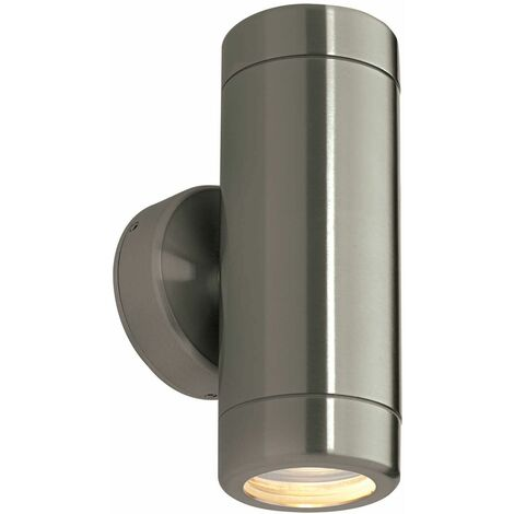 Odyssey Outdoor Wall Light Stainless steel and glass