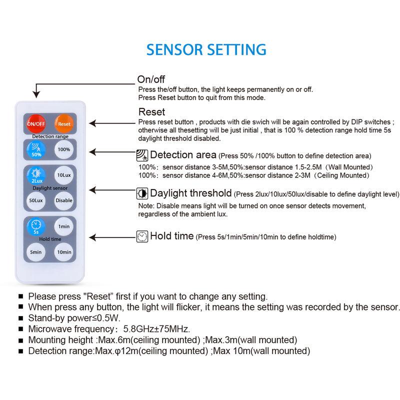 Sensor Deckenlampe mit Bewegungsmelder Badezimmerlampe 4000K Oeegoo 15W LED Deckenleuchte 1500lm Automatikleuchte mit Mikrowellen-sensor IP44 Wasserfest Sensorleuchte mit Radar-Bewegungssensor