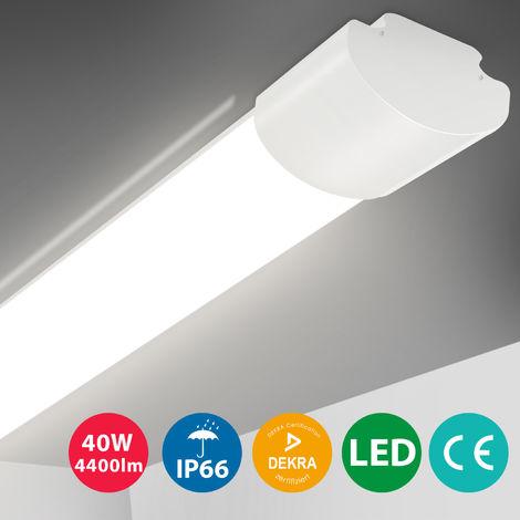 Oeegoo LED Batten Ceiling Lights 4ft 120CM, LED Tube Light, 30W IP66 Waterproof LED Lights Fitting Daylight White 4000K 3800LM Ceiling Lamp for Garage Underground Store Bathroom