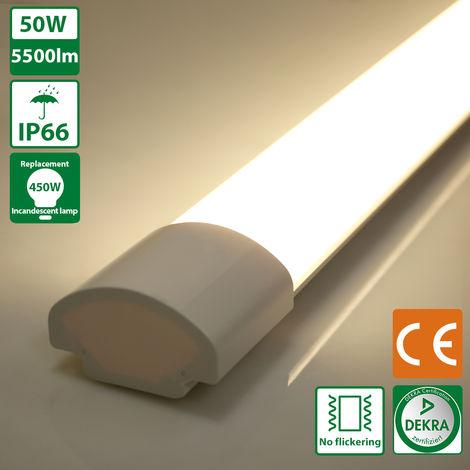Oeegoo LED Batten Ceiling Lights 5ft 150CM, LED Tube Light, 40W IP66 Waterproof LED Lights Fitting Daylight White 4000K 5000LM Ceiling Lamp for Garage Underground Store Bathroom