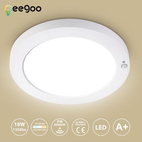 Oeegoo LED Ceiling Light, Plastic, 18w 1550lm with Sensor, ¦µ22.7 * 2.0/cm 18.00watts 230.00volts