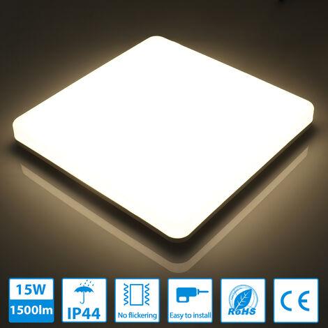 12W LED Deckenleuchte Deckenlampe Wohnzimmer Flurlampe Badlampe Küchen Weiß IP44