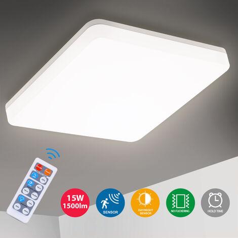 24W LED Deckenleuchte Dimmbar Badleuchte Deckenlampe Flur Rund mit Fernbedienung