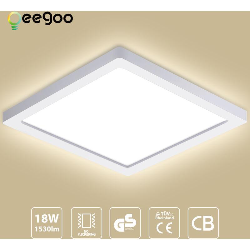 Oeegoo Led Deckenleuchte Flimmerfreie Deckenlampe 18w 1530lm