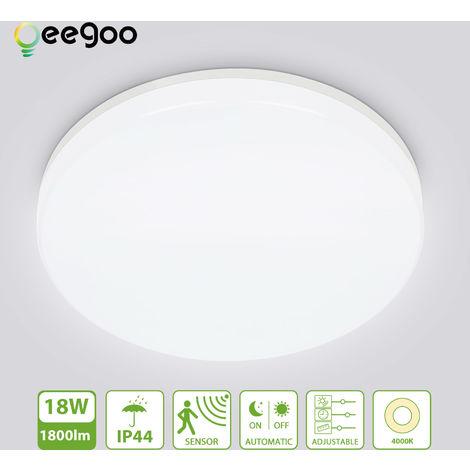 Oeegoo LED Deckenleuchte mit Bewegungsmelder, 18W 1800LM ...