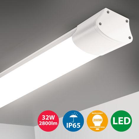 Oeegoo LED Feuchtraumleuchte 120cm, IP65 Wasserdichte ...