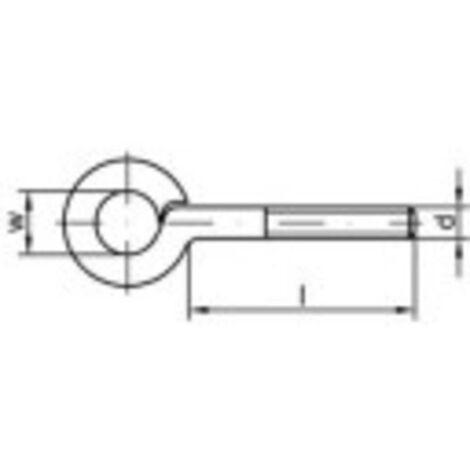 Œillet fileté type 48 TOOLCRAFT 159575 M6 x 70 mm En acier zingué galvanisé 100 pc(s)