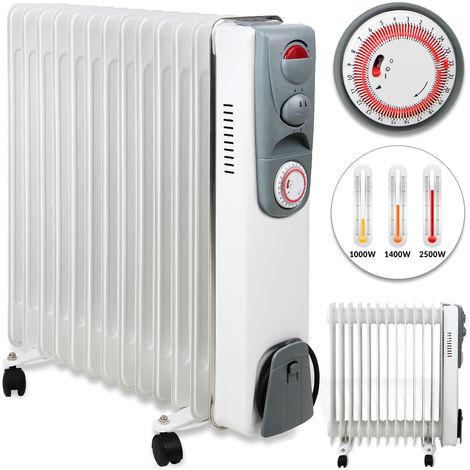 Elektrischer Ölgefüllter Heizkörper Heizgerät 1500W 2000W 2500W Thermostat