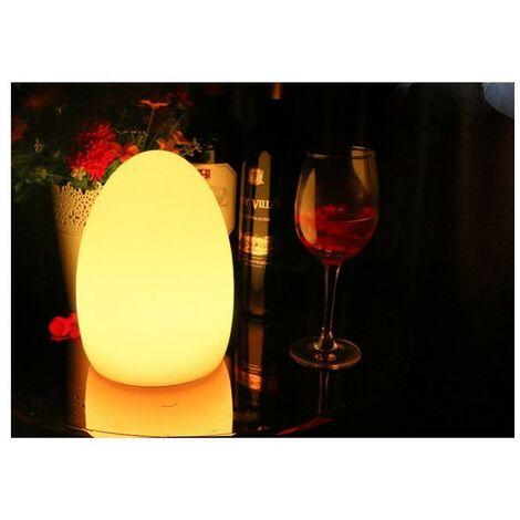 Oeuf lumineux LED RGBW 14*19cm en résine 1W IP65 sans fil