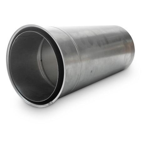 Ofenrohr Wandfutter doppelwandig DN 150 mm Länge 500 mm kürzbar