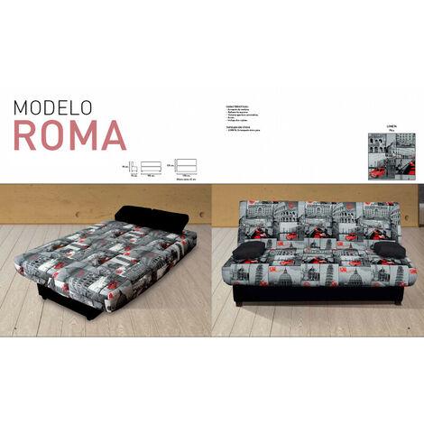 OFERTA Sofa cama Serigrafiado, 3 plazas, apertura automatica, ref-04