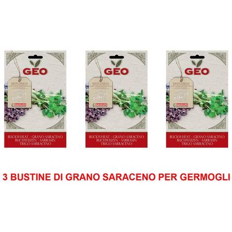 OFFERTA 3 CONFEZIONI SEMI BIO DI GRANO SARACENO PER GERMOGLI 90GR SEMENZAIO SEMENTI