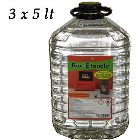 Offerta Bioetanolo Liquido 3 6 9 Taniche 5 Lt Cartone Stufe Camini Combustibile
