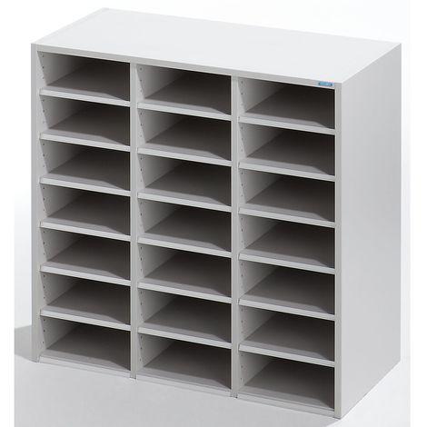 OFFICE AKKTIV Rehausse de tri - h x l x p 922 x 913 x 420 mm, 21 casiers - gris clair RAL 7035 - gris clair RAL 7035