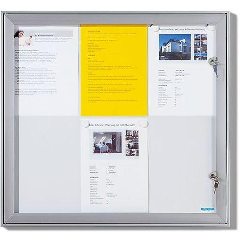 OFFICE AKKTIV Vitrine d'affichage à porte battante - l x h x p ext. 742 x 697 x 33 mm - fond en liège