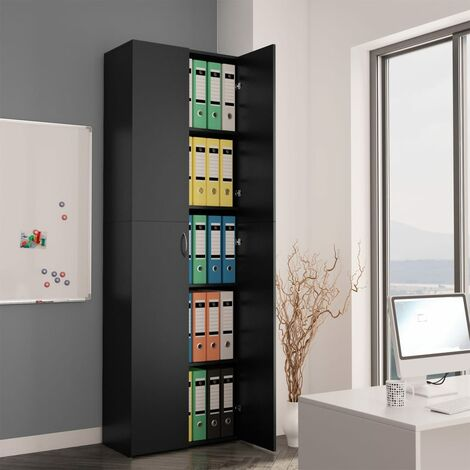 """main image of """"Office Cabinet Black 60x32x190 cm Chipboard35262-Serial number"""""""
