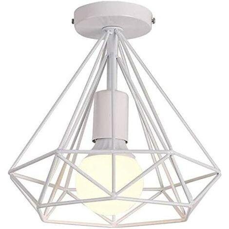 Office ceiling lights, ceiling light, living room, retro, diamond shape metal, bedroom design, antique ceiling light, rustic (B)