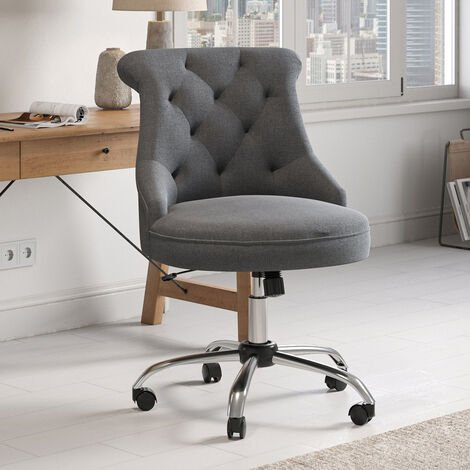 Office Chair Adjustable Height Swivel Study Computer Desk Task Chairs