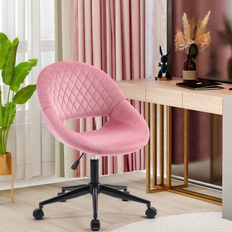 Office Chair Desk Chair Computer Chair Task Chair Swivel Chair Adjustable Height Pink/Velvet/1PC