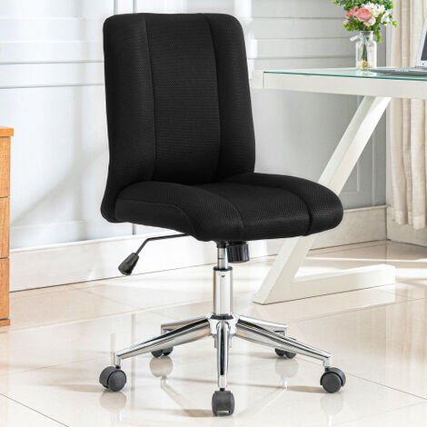 Office Chair Desk Chair Mesh High Back Executive Swivel Chair, Mesh Seat for Home Office (Black)