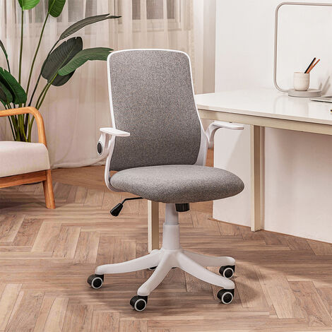 Office Chair Ergonomic Desk Chair Mesh Back Swivel Seat Lumbar Support with Flip up Armrests