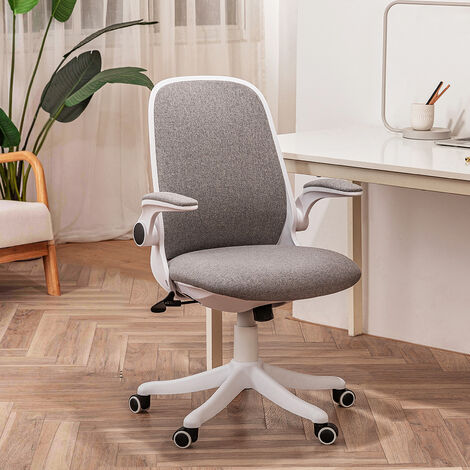 Office Chair Ergonomic Desk Chair Mesh Back Swivel Seat with Movable Lumbar Support Flip up Armrests