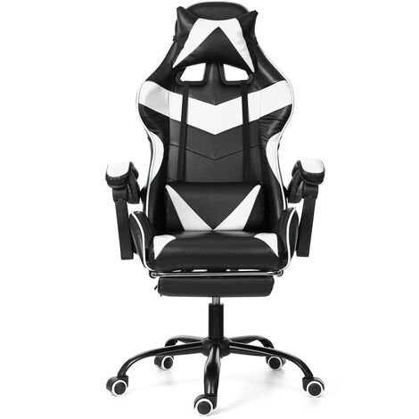 """main image of """"Gaming Chairs Office Swivel Seat Chair Lumbar Support with Footrest"""""""