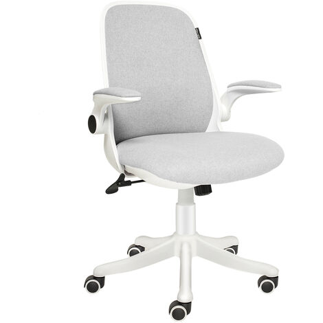 Office Chair Mid Mesh Back Swivel Seat Adjustable Lumbar Support Executive Chair with Flip up Armrests