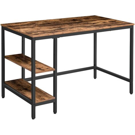 """main image of """"Office Desk, Computer Desk with 2 Storage Shelves on Left or Right, , Sturdy Writing Desk with Metal Frame, for Study and Home Office, 120 x 60 x 76 cm, HOOBRO EBF59DN01"""""""